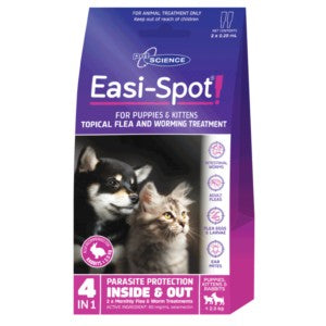 PET SCIENCE EASI-SPOT FOR PUPPIES & KITTENS 2x0.25ML