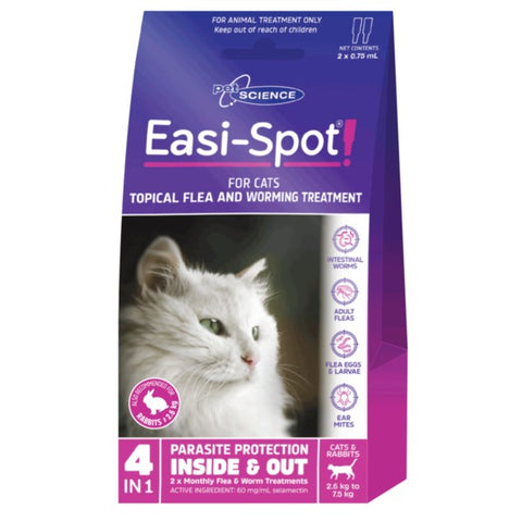 PET SCIENCE EASI-SPOT FOR CATS 2x0.75ML