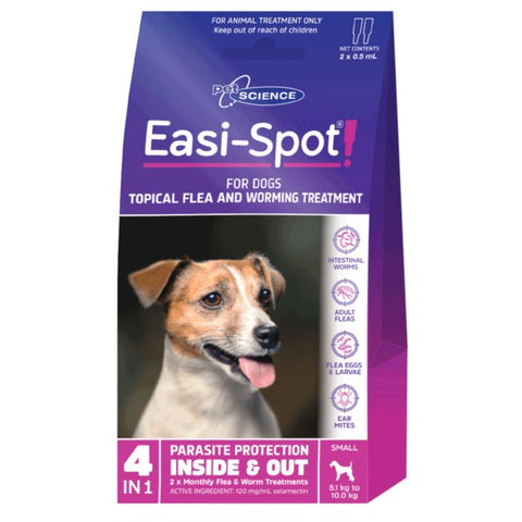 PET SCIENCE EASI-SPOT FOR SMALL DOGS 2x0.5ML