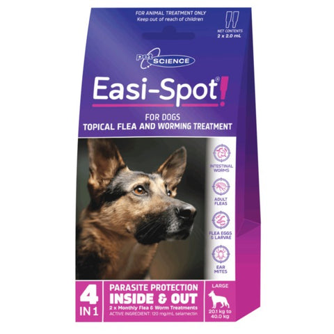 PET SCIENCE EASI-SPOT FOR LARGE DOGS 2x2.0ML