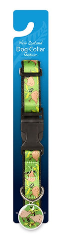 DOG COLLAR KIWI & PONGA MEDIUM
