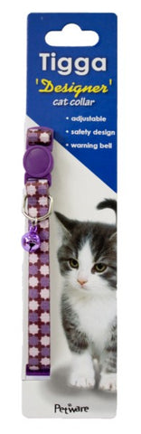 TIGGA CAT COLLAR EIGHT AWN STAR PURPLE