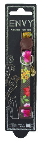 ENVY CAT COLLAR FLORA BROWN