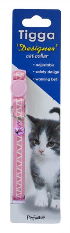 TIGGA CAT COLLAR TRIANGLE PINK