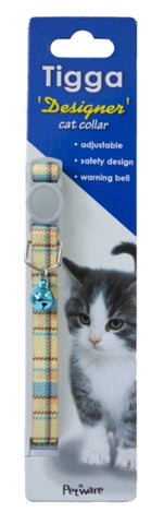 TIGGA CAT COLLAR TEXTILE BLUE