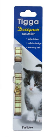 TIGGA CAT COLLAR TEXTILE GREEN