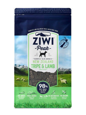 ZIWI PEAK AIR DRIED TRIPE & LAMB DOG FOOD 1KG