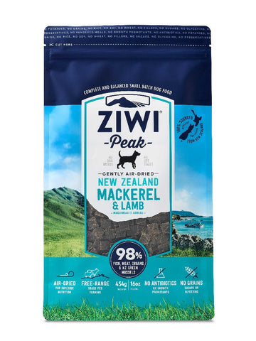 ZIWI PEAK AIR DRIED MACKEREL & LAMB DOG FOOD 454G