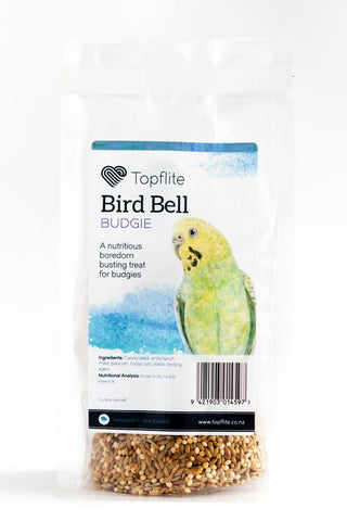 BUDGIE BELLS (BARCODED & BAGGED)
