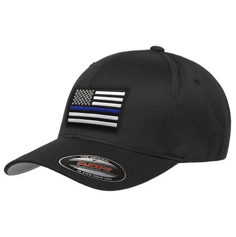 Thin Blue Line Flex Fit Baseball Hat