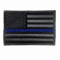 Thin Blue Line American Flag Patch Subdued 2.5x3.5""