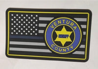 Patch PVC Thin Blue Line VCSO Shoulder Patch Velco
