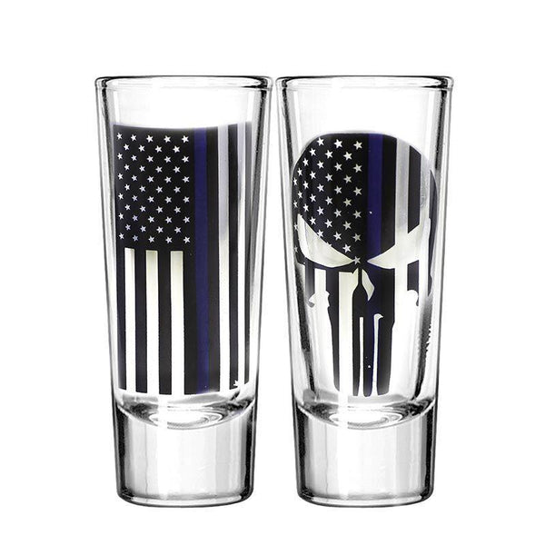 Thin Blue Line Shot Glass