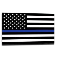 Thin Blue Line American Flag Sticker