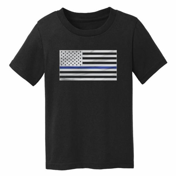 Thin Blue Line American Flag Toddler T-Shirt