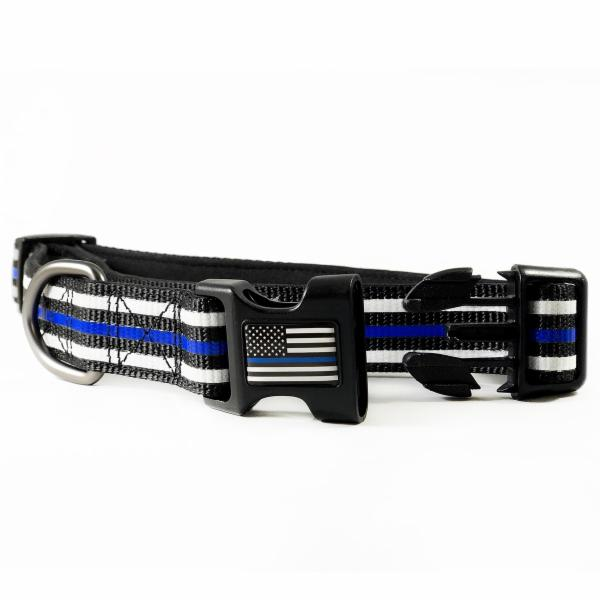Thin Blue Line American Flag Dog Collar