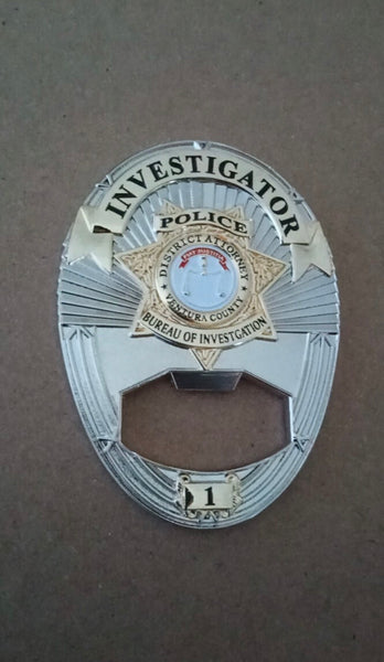 Bottle Opener District Attorney Badge