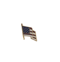 "American Flag Pin 3/8"" with single post"
