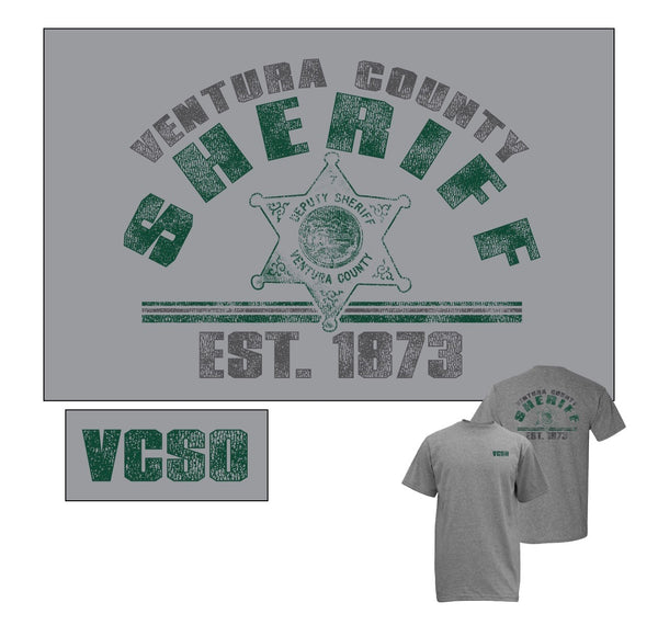 VCSO Heather Grey Retro T-shirt