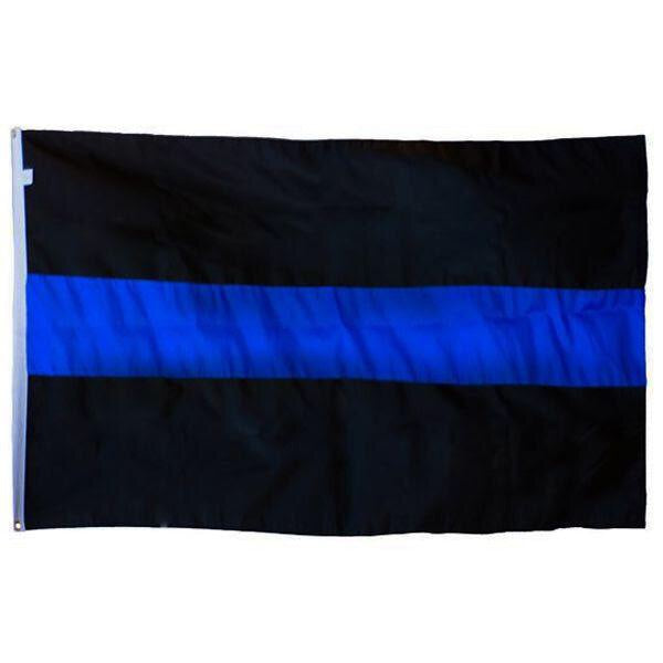 Thin Blue Line Large Flag