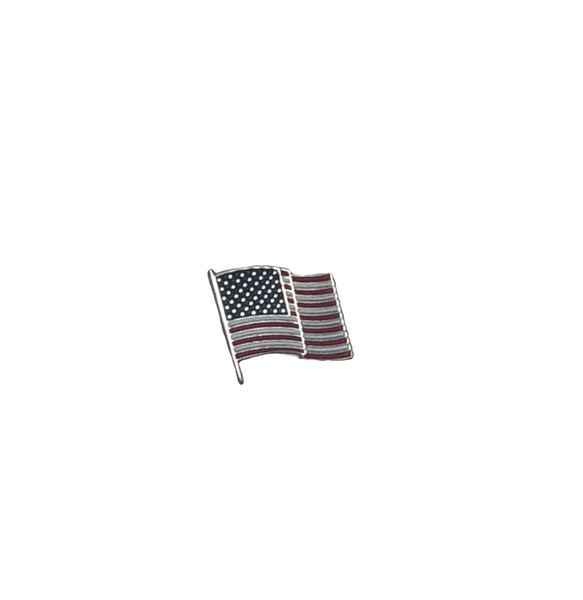 "American Flag Pin 3/8"" with two posts"