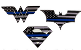 Thin Blue Line Superhero Stickers