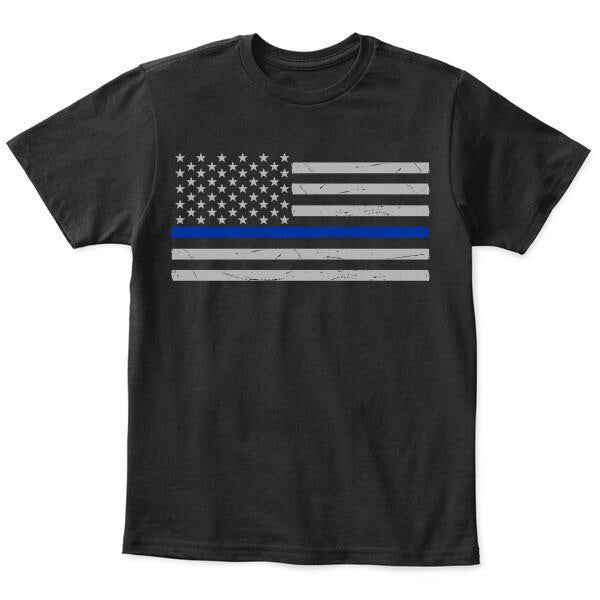 Thin Blue Line Youth American Flag T-shirt