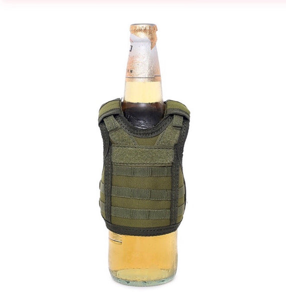 Tactical drink koozie vest
