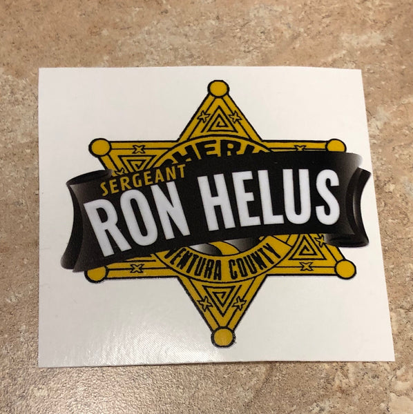 Ron Helus Star Sticker