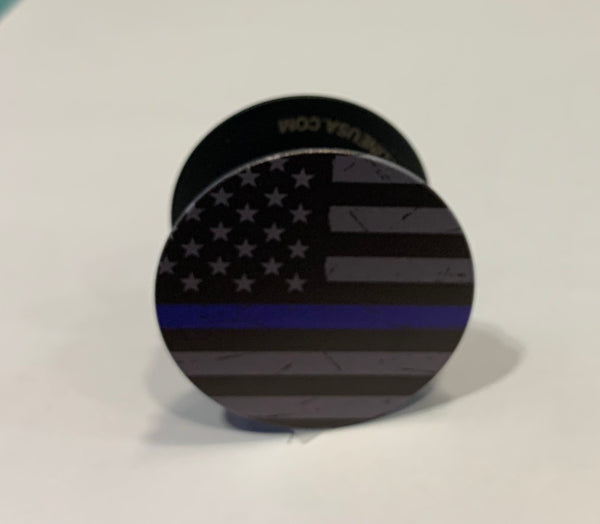 Thin Blue Line Pop Socket Subdued