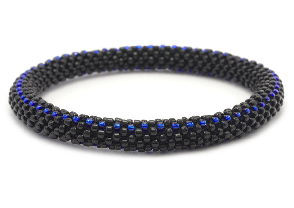 Thin Blue Line Beaded Bracelet