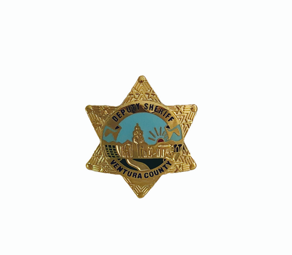 "Pin - Ventura County Deputy Sheriff's 1"" Badge"