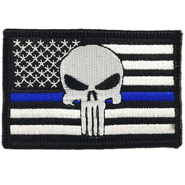 Patch Punisher Thin Blue Line Velcro
