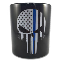 Thin Blue Line Punisher Coffee Mug