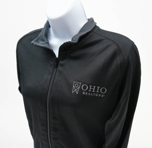 Ladies Vertical Texture Full-Zip Jacket in Black
