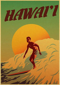 Balzanne Affiche Hawaii Art Decoration