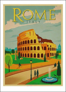 Balzanne Affiche Rome Colliseo Art Decoration