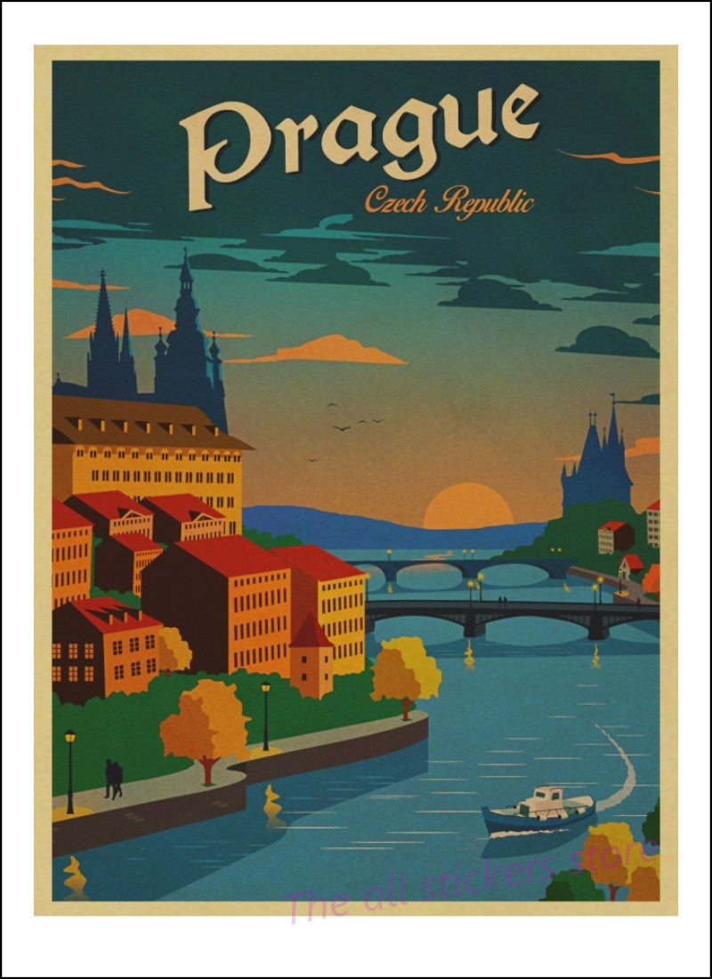 Balzanne Affiche Prague Art Decoration