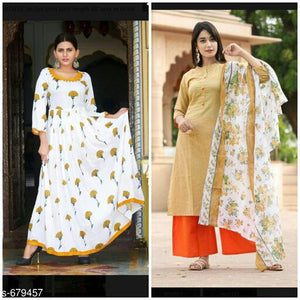 Gorgeous Rayon Combo Kurti (Set Of 2)