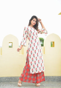 Gorgeous  Cotton Slub  Kurta Set