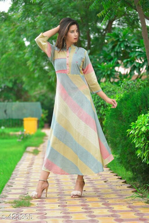 Stunning Printed Cotton Kurta