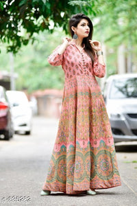 Designer Anarkali Cotton kurtis