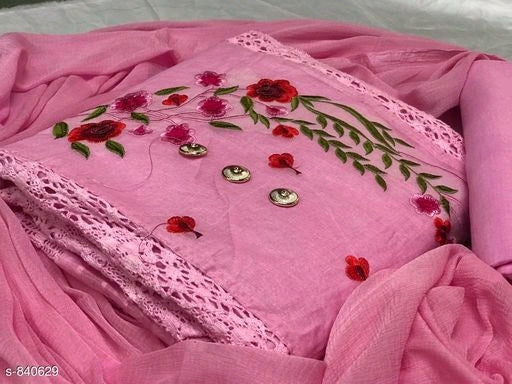 Trendy Cotton Organdy Embroidery Suits