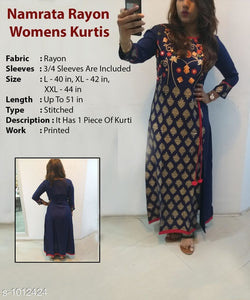 Trendy Blue Women's Kurti