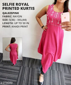 Stylish Royal Printed Designer Kurti