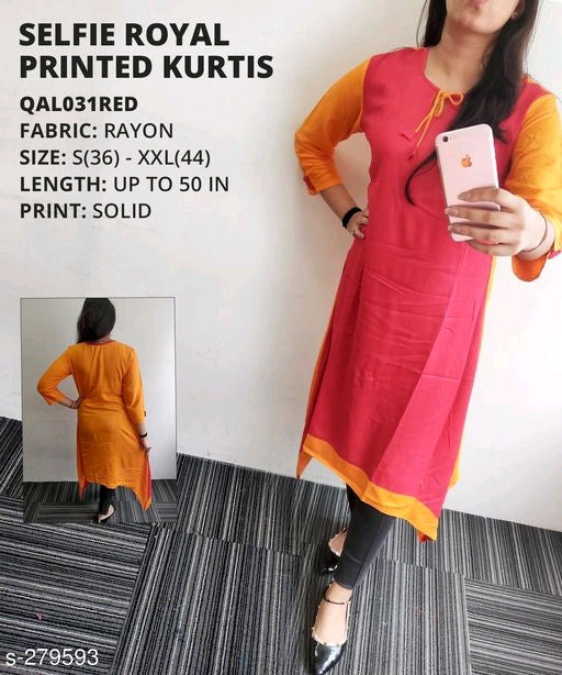 Stylish Red Designer Kurti