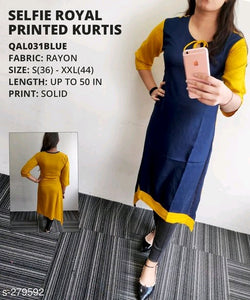 Stylish Navy Blue Designer Kurti