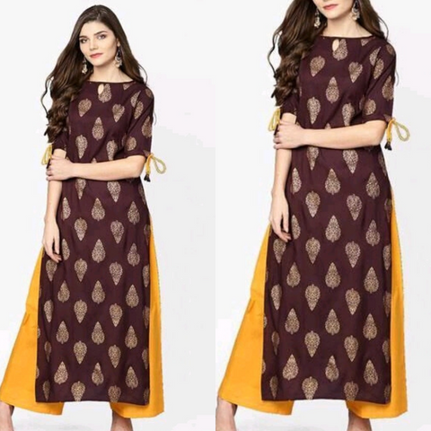 Myhra's Rayon Ethnic Women's Kurta And Palazzo Set