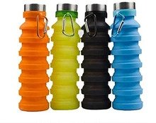 Silicone Portable Leak Proof Foldable Water Bottle (Colour May Vary)