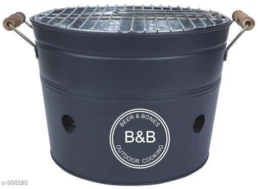 Drum Style Barbecue Grill Toaster (Color May Vary)